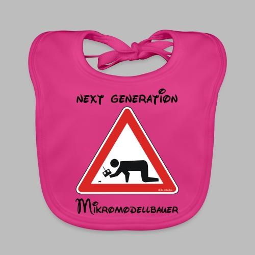 Warnschild Mikromodellbauer Next Generation - Baby Bio-Lätzchen