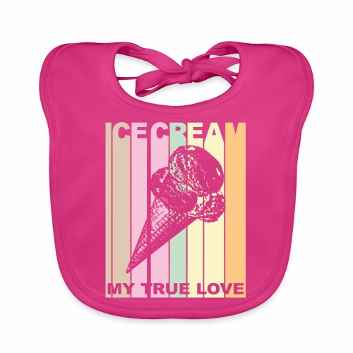 Ice Cream T-shirt Design im Vintage Look - Baby Bio-Lätzchen