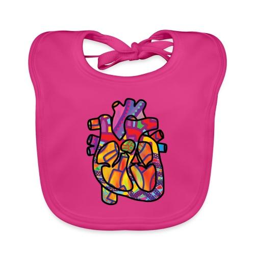 Real Energetic Heart - Baby Organic Bib