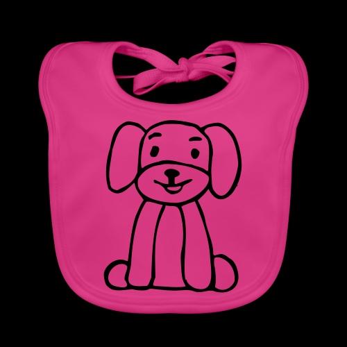 hund sitzt - Baby Bio-Lätzchen