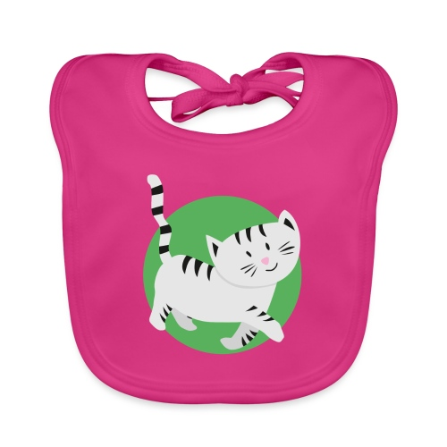 Katze Mimi Miau - Baby Bio-Lätzchen