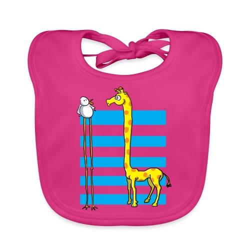 La girafe et l'échassier - Bavoir bio Bébé