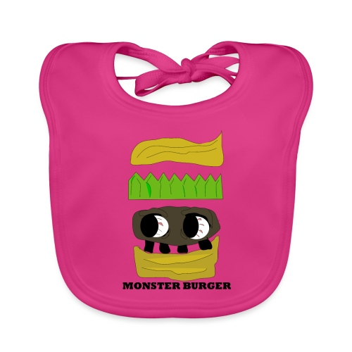 MONSTER BURGER - Baby Bio-Lätzchen