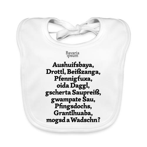 Bayrische Schimpfwörter Nr.1 - Baby Bio-Lätzchen