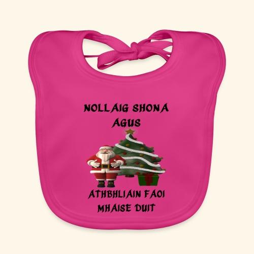 Nollaig Shona Agus Athbhliain Faoi Mhaise Duit - Baby Organic Bib