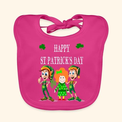 Happy ST Patrick's Day Elf's & Girl - Baby Organic Bib