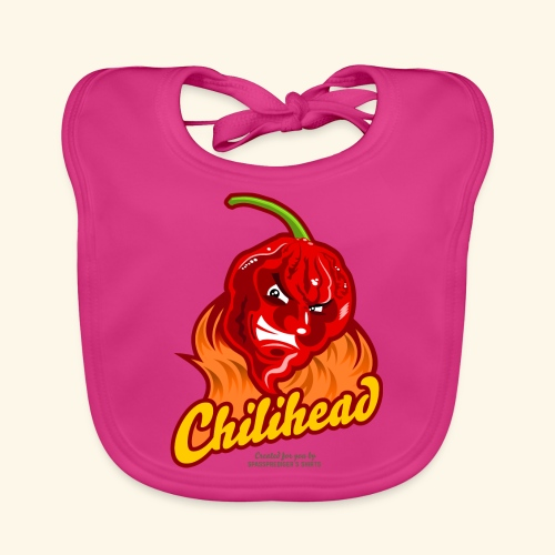 Chili Design Cartoon Chilihead | Grill T-Shirts - Baby Bio-Lätzchen