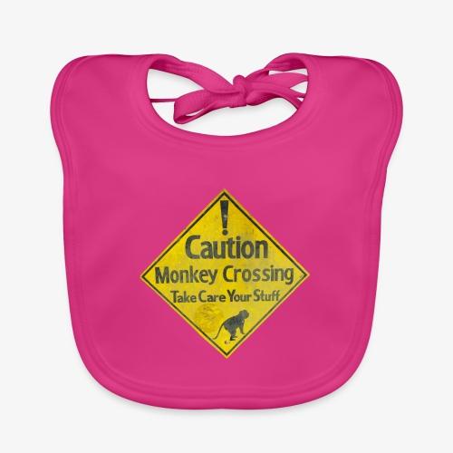 Caution Monkey Crossing - Baby Bio-Lätzchen