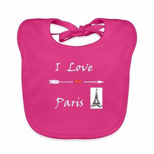 I love Paris - Baby Bio-Lätzchen