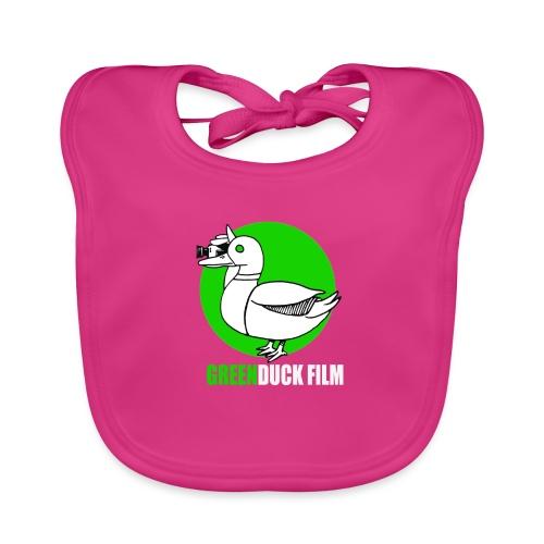 Greenduck Film Ghost Duck Logo White Letters - Hagesmække af økologisk bomuld