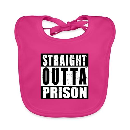 Straight outta Prison Frisch aus d. Gefängnis - Baby Bio-Lätzchen