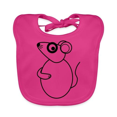 Rat - not Cool - sw - Baby Bio-Lätzchen