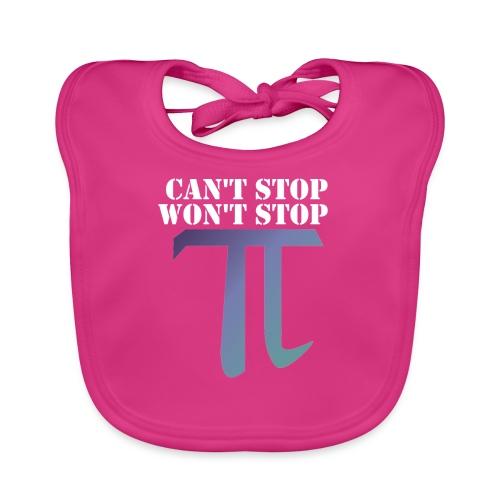 Pi Day Cant Stop Wont Stop Shirt Dunkel - Baby Bio-Lätzchen