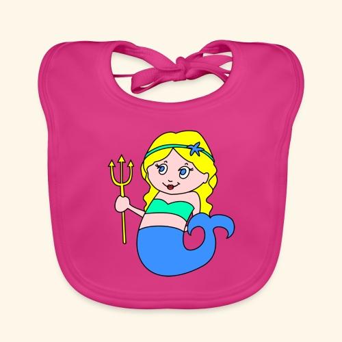 little mermaid blonde - Organic Baby Bibs
