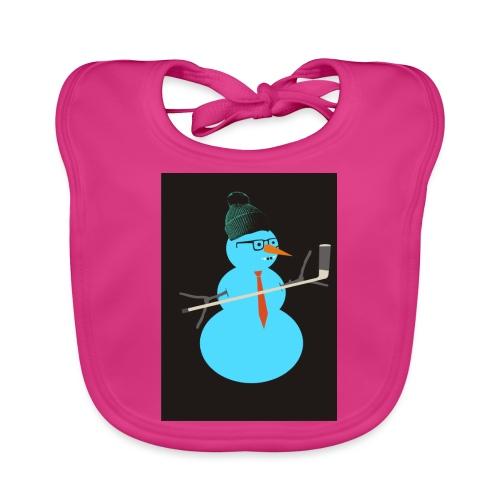 Hockey snowman - Vauvan ruokalappu