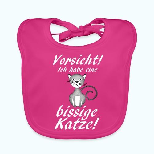 VORSICHT ich habe eine bissige Katze! - Baby Organic Bib