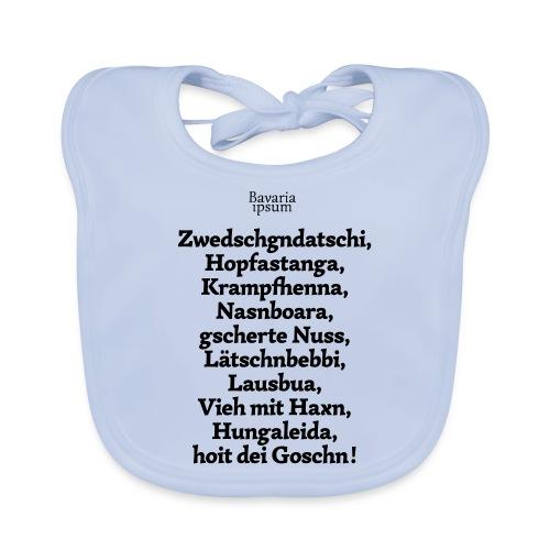 Bayrische Schimpfwörter Nr.3 - Baby Bio-Lätzchen