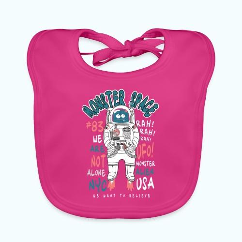 Little Monster In Space 80s Retro - Baby Organic Bib