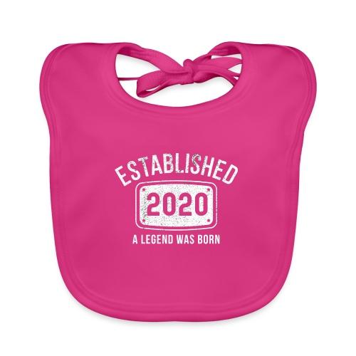 Etablerad 2020 En Legend Är Född - Ekologisk babyhaklapp