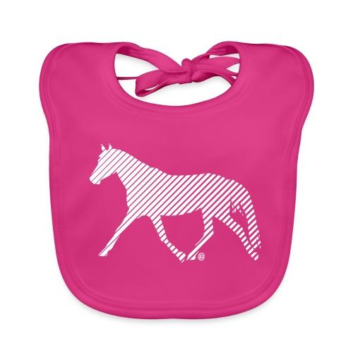 Streifen Pferd - Baby Bio-Lätzchen