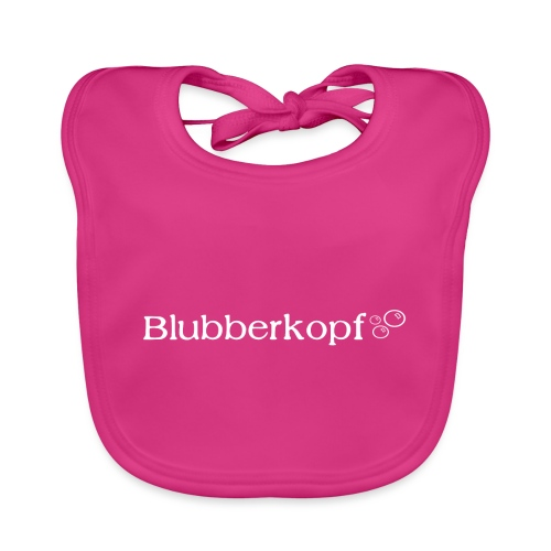 Blubberkopf, weiß - Baby Bio-Lätzchen