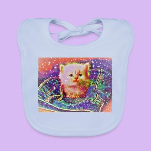 Gattino scintillante nella tasca dei jeans - Bavaglino ecologico per neonato