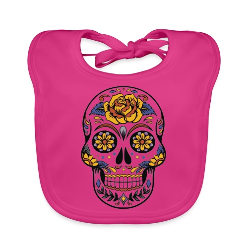 skull mexiko mexico - Baby Bio-Lätzchen