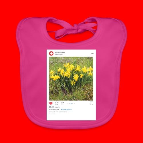 travelsuisse - Blumen Gelb - Baby Bio-Lätzchen