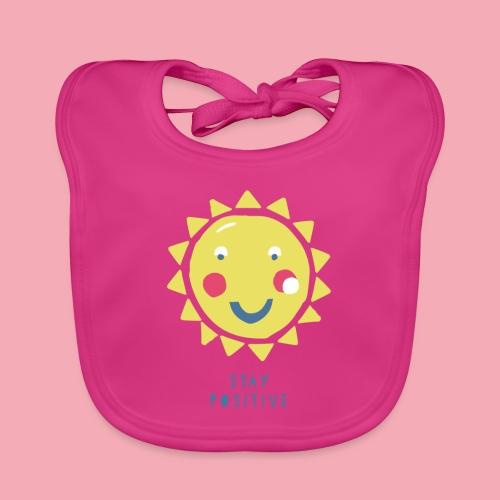 Stay positive // Sonne - Baby Bio-Lätzchen
