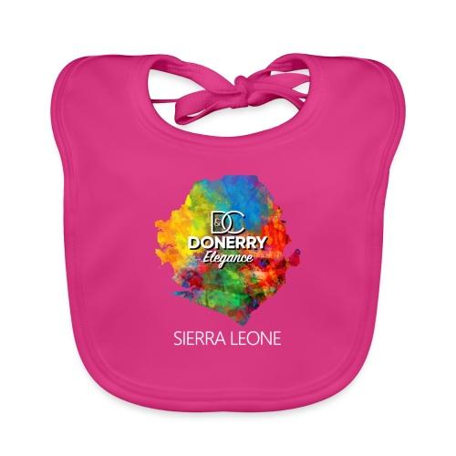 Sierra Leone Colourful Map Dark - Organic Baby Bibs
