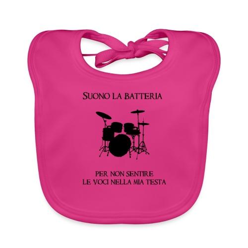 Batterista - Bavaglino ecologico per neonato