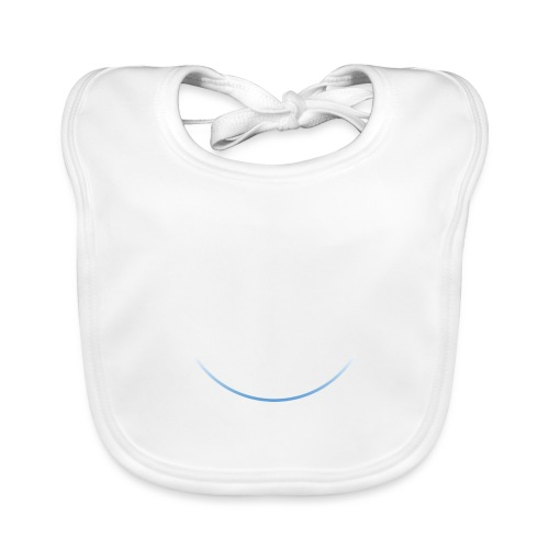 White and white-blue logo - Baby Organic Bib