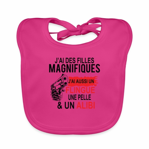 J'AI DEUX FILLES MAGNIFIQUES Best t-shirts 25% - Bavoir bio Bébé