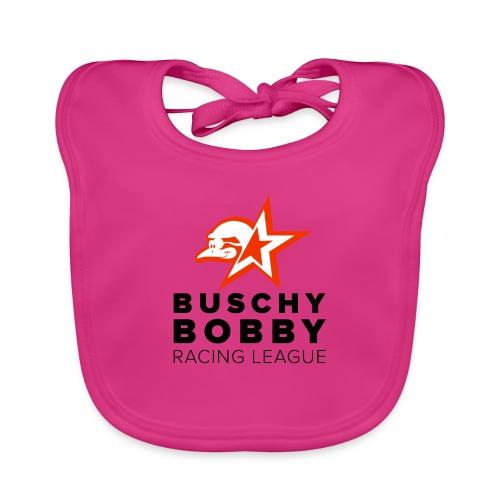Buschy Bobby Racing League on white - Baby Organic Bib