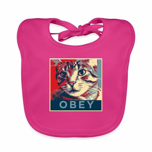 Obey the Cat! - Baby Bio-Lätzchen