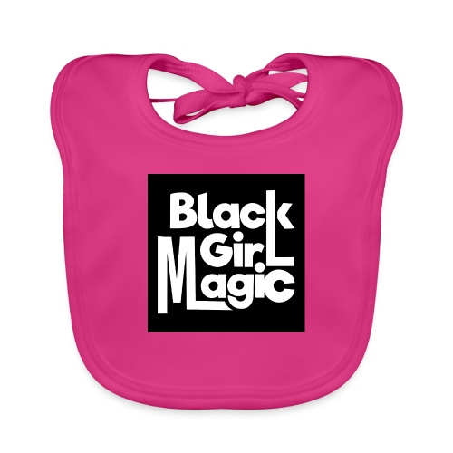 Black Girl Magic 2 White Text - Baby Organic Bib