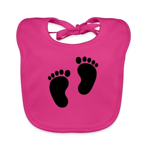 Baby voetjes - Bio-slabbetje voor baby's