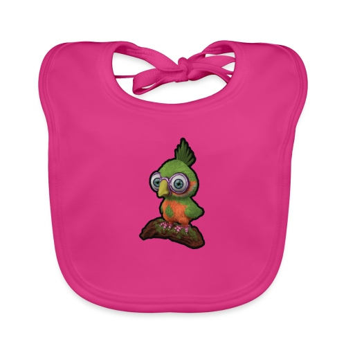 A bird sitting on a branch - Organic Baby Bibs