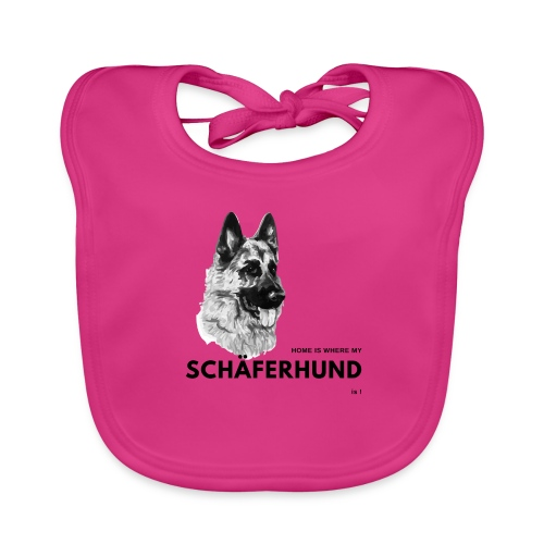 Home is where my Schäferhund is ! - Baby Bio-Lätzchen