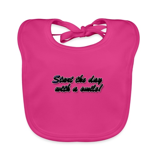 Start the day with a smile - Baby Organic Bib