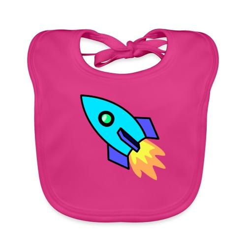 Blue rocket - Baby Organic Bib