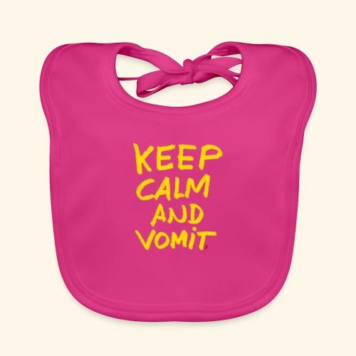 Keep calm and vomit - Bavoir bio Bébé
