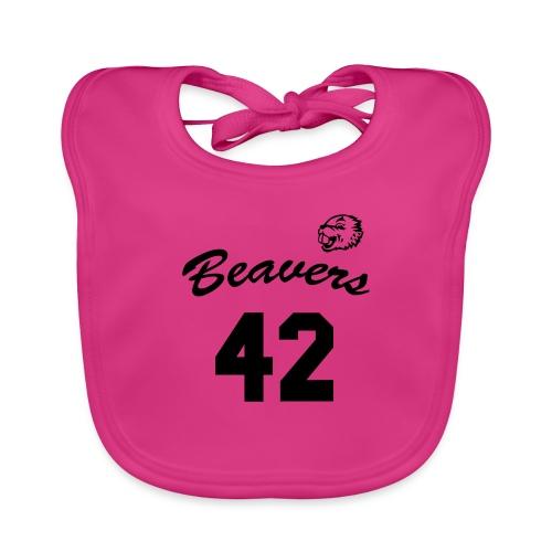 Beavers front - Bio-slabbetje voor baby's