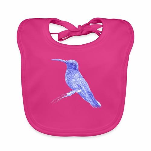 Hummingbird with ballpoint pen - Baby Organic Bib