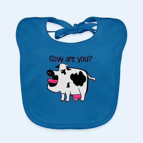 Cow are you? - Babero de algodón orgánico para bebés