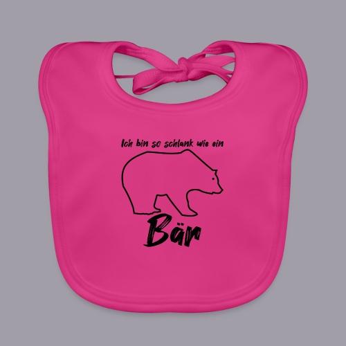 Ich bin so schlank wie ein Bär - Baby Bio-Lätzchen