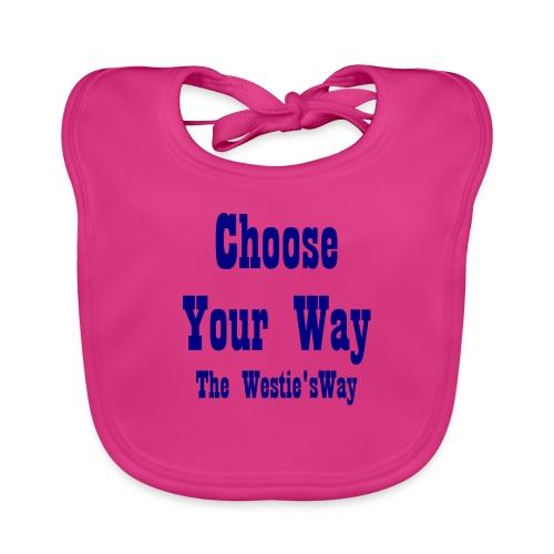 Choose Your Way Navy - Ekologiczny śliniaczek