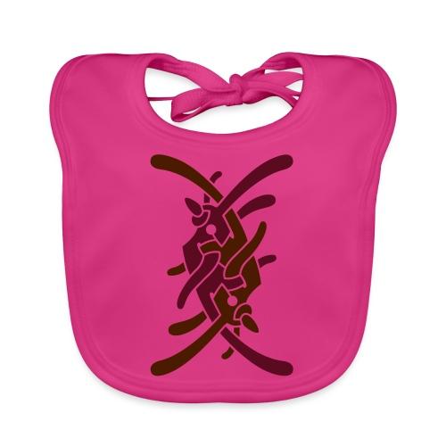 Stort logo på ryg - Hagesmække af økologisk bomuld