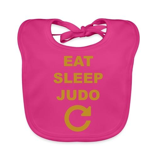 Eat sleep Judo repeat - Ekologiczny śliniaczek