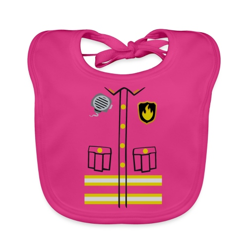 Firefighter Costume - Baby Organic Bib